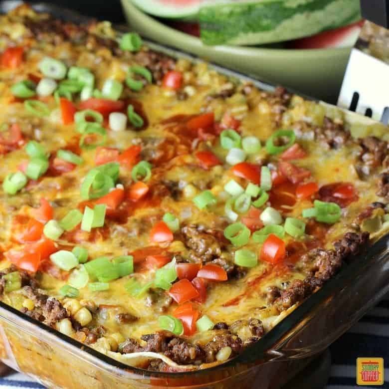Mexican Lasagna with Corn Tortillas #SundaySupper - Sunday ...