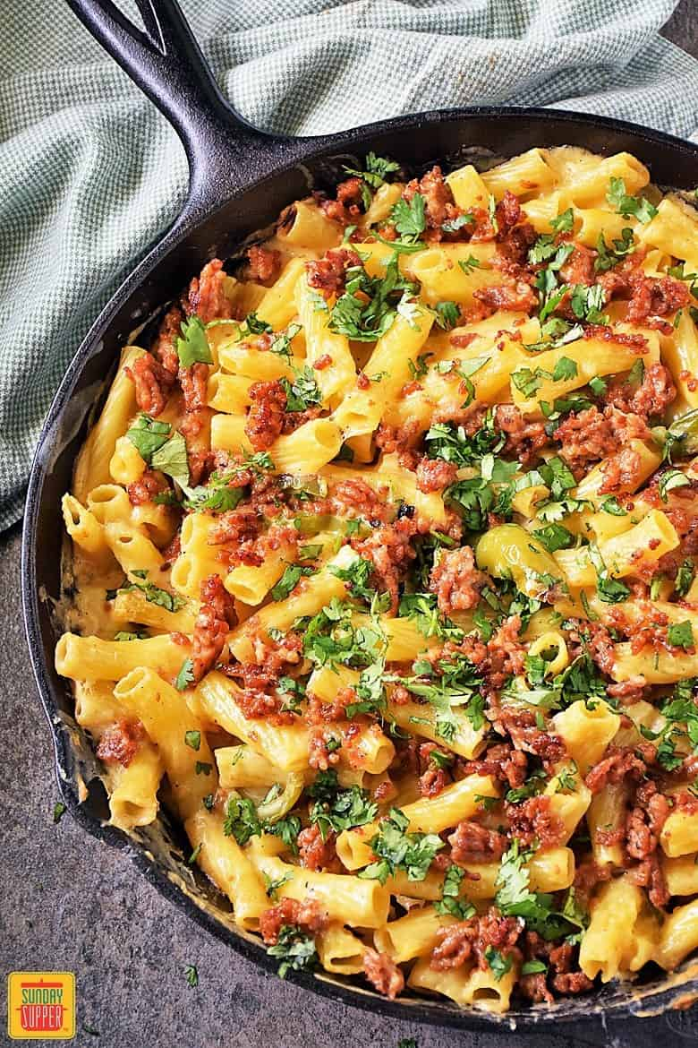 Baked Ziti with Sausage and Peppers by Sunday Supper Movement