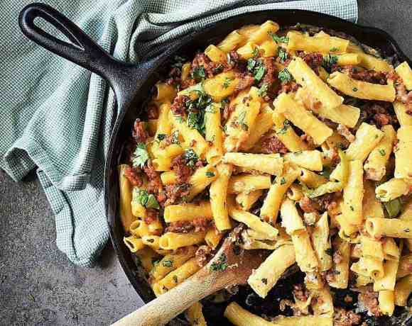 Baked Ziti with Sausage and Peppers