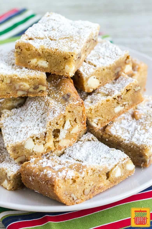 Best Blondies Recipe: chewy-gooey, fudgy, and caramel-y ...  |Chewy Blondie Recipe