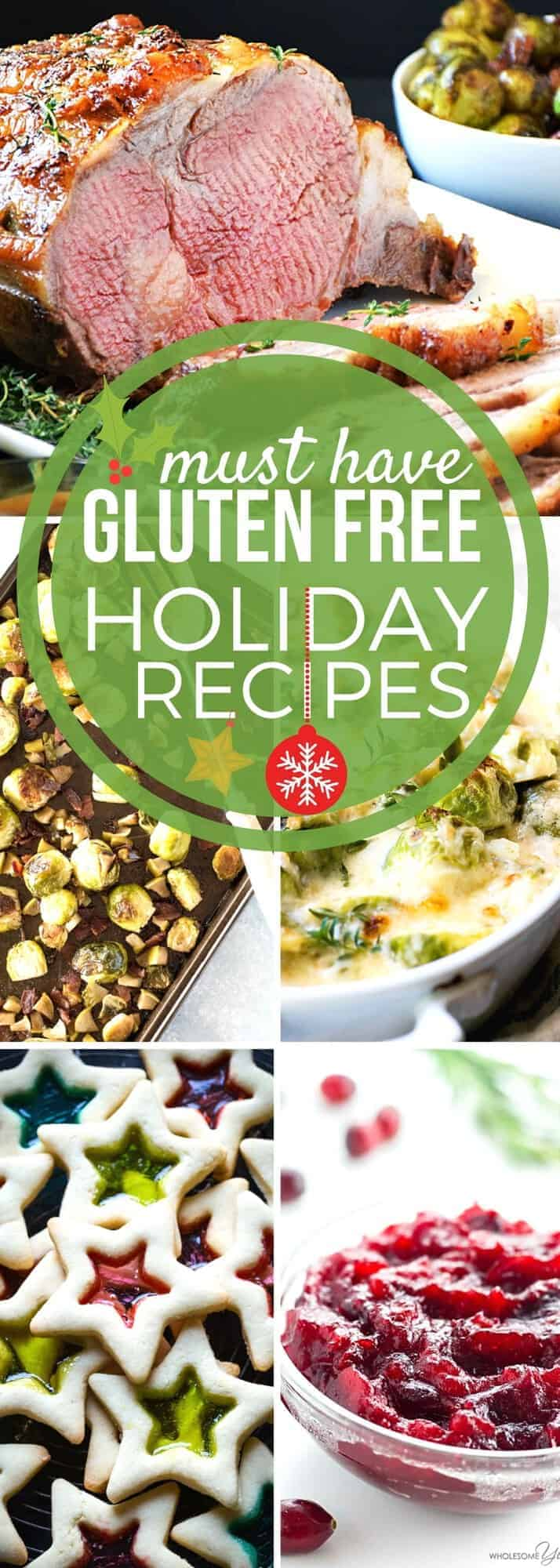 Need GLUTEN FREE recipes? We've got you covered! Here's our collection of the best and most delicious gluten free holiday recipes. Gluten free has never tasted so good. Enjoy the recipes in our holiday collection throughout the holiday season and beyond. #SundaySupper #GlutenFree #HolidayRecipes