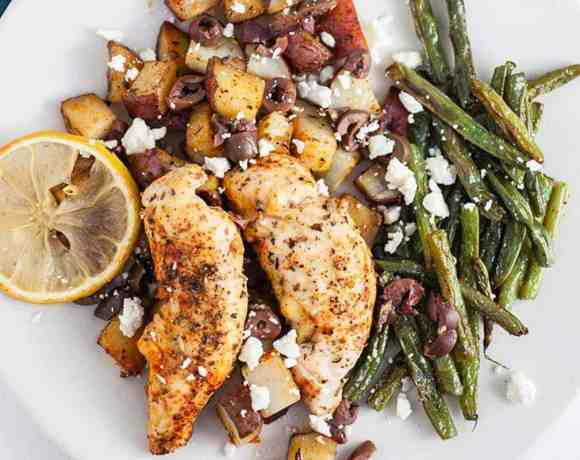 Sheet Pan Greek Chicken and Potatoes #SundaySupper