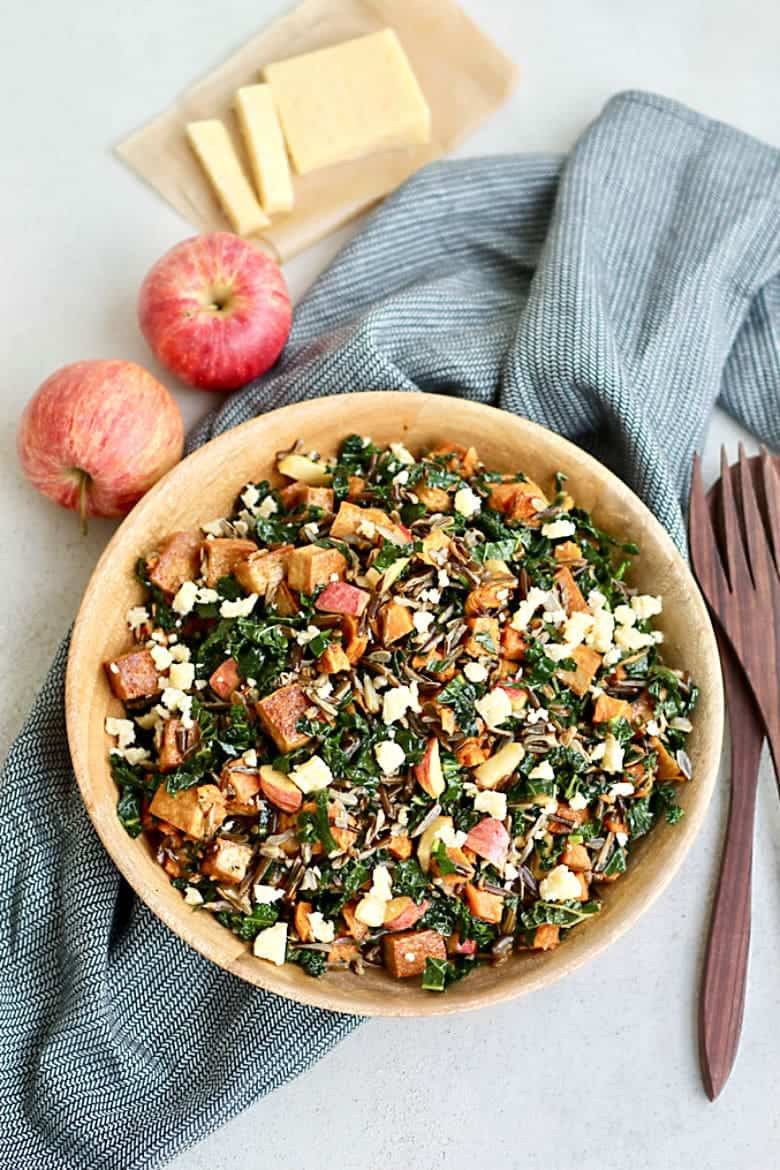 Wild Rice Bowls with Sweet Potatoes and Spicy Tofu