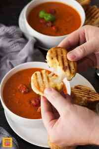Roasted Tomato Soup with Mini Grilled Cheese