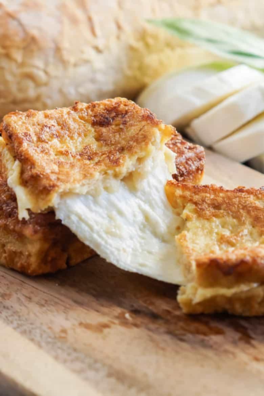 Neapolitan Fried Mozzarella Sandwiches