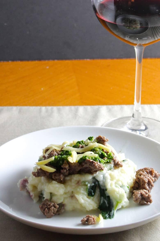 Irish Cheddar Potatoes with Lamb