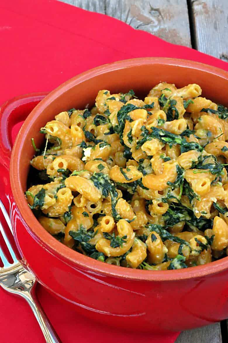 Stove Top Spinach Macaroni and Cheese