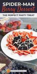 Save Spider-Man Web Berry Dessert on Pinterest!