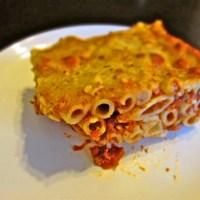 Baked Mostacholi with Leftover Turkey Bolognese