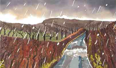 Dennis Lewis, Brecon 11, rain