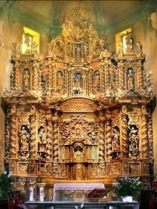 la chiesa di Antagnod, chiesa cattolica, parrocchia, altare maggiore barocco, ayas, Meteo Ayas