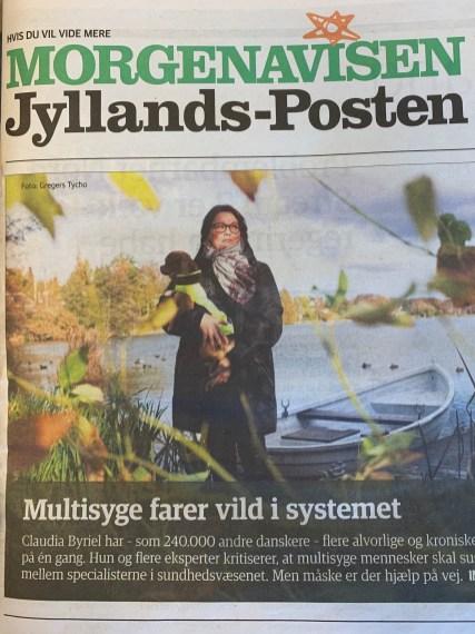 Forside Jyllandsposten den 31. oktober 2019. Pressearbejde ved Sundhedskommunikation