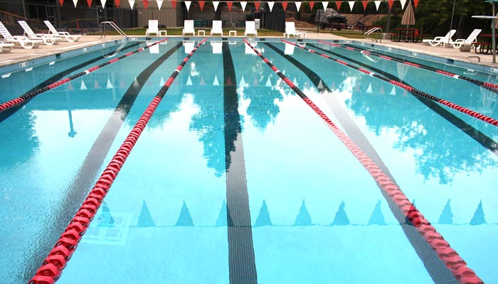 the gym membership includes access to the six lane junior olympic size pool photo