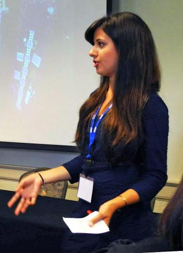 The gender women's studies department earned a grant to study what student's know about the national gender wage gap. Student representative, Alina Sarkissian and a research group traveled to Washington, D.C. to present their findings at a conference.  Photo courtesy of Alina Sarkissian