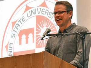 Matt Damon visits CSUN to introduce NYU professor Diane ...