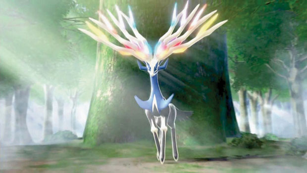 Xernaes, a new Pokemon from the sixth generation.