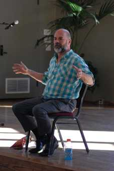 Noted journalist, author and LGBTQ activist Andrew Sullivan answers students questions during a Q&A at the USU Grand Salon. Photo Credit/Manny D. Araujo.