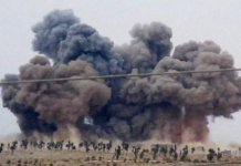 An airstrike in Idlip Province in Syria.