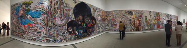 82-foot-long painting by Takashi Murakami