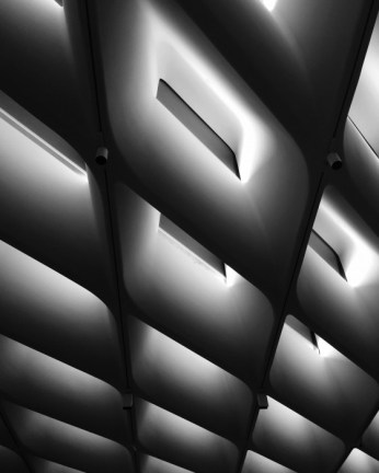Inside The Broad. The Broad is designed by world-renowned architectural firm Diller Scofidio +Renfro.