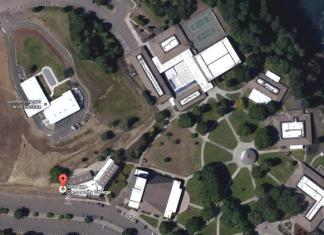 Birds Eye View of Community College in Oregon.