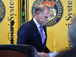 The president of the University of Missouri system, Tim Wolfe, steps down after accusations of no action taking place after numerous counts of racism on campus.