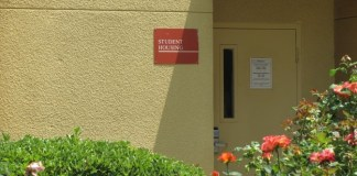Photo of CSUN student housing building sign