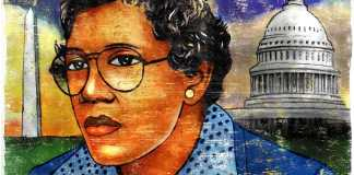 Painting of Barbara Jordan