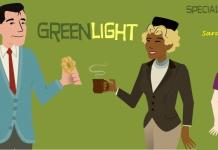 Greenlight logo with special guest, Sarah