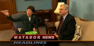 A man and woman sit along side one another for Matador News Headlines