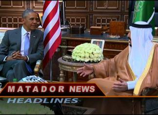 Matador News still shows Obama speaking with another man
