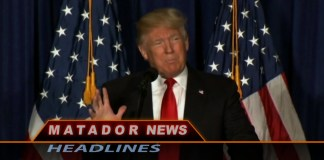 Still of Matador News shows Donald Trump