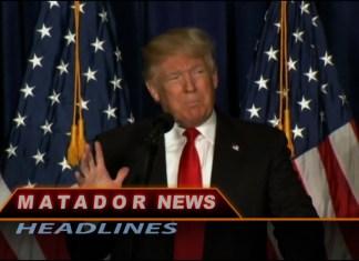 Still of Matador News shows Donald Trump