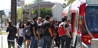 Students shown loading onto bus