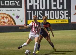 CSUN player passes the ball