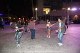 4 students shown dancing at matador nights
