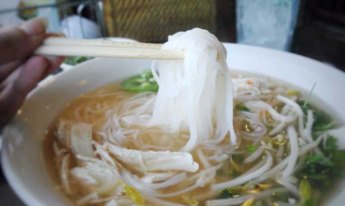 Bowl of chicken pho