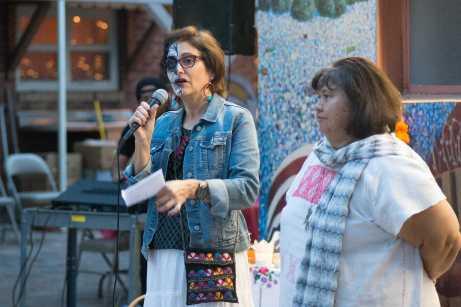 Chicanx professors speak to students