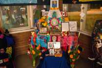 Photo shows colorful altar made for day of the dead