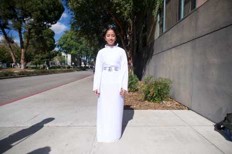 Student dressed up as Princess Leia