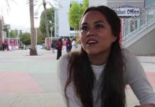 CSUN student shown being interviewed about matador patrol