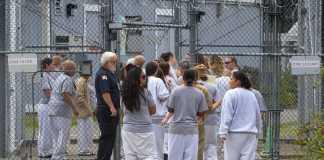 Prison detainees shown