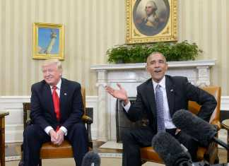 Barack Obama speaks with Trump