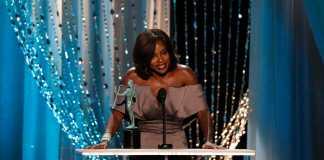 Viola Davis presents an award at the Actors Guild Awards