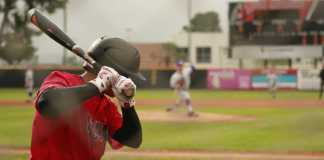 CSUN baseball player steps up to the plate