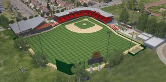 CSUN baseball field plans are illustrated