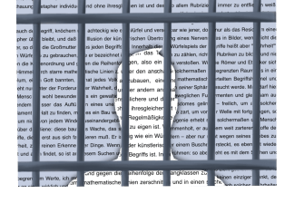 Illustration shows the sillouete of a man behind bars with writing overlapping