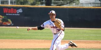 CSUN pitcher throws the ball
