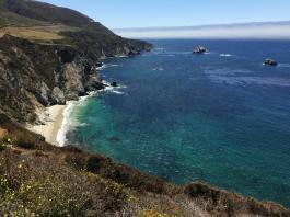 photo shows cliffside beach