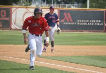 csun player runs to the next base
